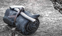 Long Adventures (melbroox) Tags: art leather statue metal garden nikon university guelph axe cloth metalstatue universityofguelph nikond3200 artpiece statuegarden uofg d3200 imitationleather leatherbelt nikonphotographer