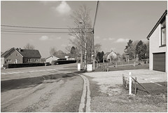 belgium 114 (beauty of all things) Tags: bw rural belgium sw roads asphalt belgien ländlich strasen hauset