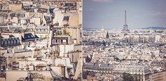 Paris impressions  (AndreaKamal.com) Tags: travel paris france photography diptych rooftops eiffeltower eiffelturm traveldestinations