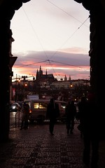 my eyes, your eyes (emocjonalna) Tags: sunset sky people sun nature set architecture europa europe arch prague praha natura wires czechrepublic setting hradcany ceskarepublika zachód ludzie architektura niebo czechy slonce
