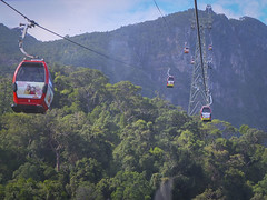 Cable car view from the Base station to the Middle station. (Farishdzq) Tags: travel tourism car landscape island cable malaysia langkawi skycab