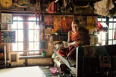 The Mona Lisa Smile (luca.onnis) Tags: light red window photography asia yangon monk monastery myanmar oneman chaukhtatgyi enigmaticsmile lucaonnis