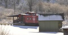 New Plymouth, Ohio (2 of 4) (Bob McGilvray Jr.) Tags: wood railroad ohio red train wooden tracks caboose cupola oh bo bb bedbreakfast newplymouth baltimoreohio