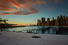 Manhattan sunset 4-minute exposure (another_scotsman) Tags: longexposure sunset newyork cityscape manhattan brooklynpark greatphotographers diamondclassphotographer flickrdiamond