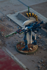 Dire Avenger Wraithlord (jontlaw) Tags: dire games 40k workshop warhammer atmospheric eldar 40000 avenger wargaming wraithlord craftworld