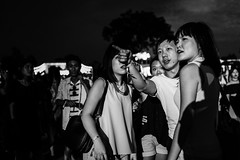 Affirmative. (Presence Inc) Tags: street light portrait people urban bw stilllife festival night 35mm dark photography dance still singapore mood candid sony performance streetphotography nightlife cinematic society crowds nightpeople mirrorless rx1r rx1rm2