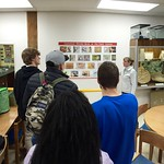 Students learning about birds at the Field Station
