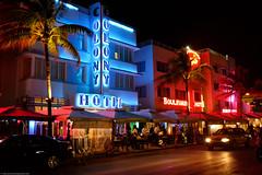 Ocean drive lights (Olli Ronimus) Tags: ocean lights drive hotel florida miami miamibeach colony oceandrive hotelcolony