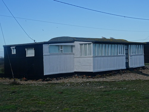 DUNGENESS HOUSE ONCE A RAILWAY CARRIAGE