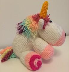 Crochet Unicorn (DMcRobert) Tags: handmade tail crochet horn unicorn mane curlicues