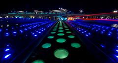 RGB (Elwin Blokdijk) Tags: bridge colors station architecture night subway metro pentax nacht brug rgb architectuur kleur nesselande