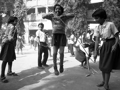Sky is the limit (Rajib Singha) Tags: street travel school india girl children fun interestingness westbengal hooghly flickriver canonpowershots90 dilakash
