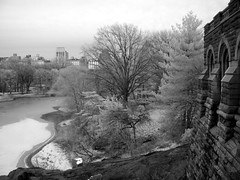 From Belvidere Castle (elsewhereness) Tags: newyorkcity blackandwhite bw ir centralpark manhattan infrared