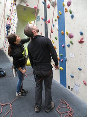 receiving instruction (Mr Kiki) Tags: birthday white london wall spider indoor climbing bouldering