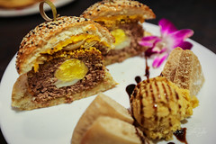 Scotch Egg Burger - Terra Cafe (sheryip) Tags: food cafe burger egg wv foodporn scotch terra morgantown