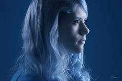 Amanda in IR - Profile (budrowilson) Tags: portrait canon strobist ef85mmf12liiusm lifepixel eos7d cybersyncs supercolorir
