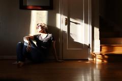 Hiding in the Shadows (YetAnotherLisa) Tags: door portrait self shadows day35366 yetanotherlisa 52weeks2016 366the2016edition 3662016 yetanotherlisa2016 4feb16