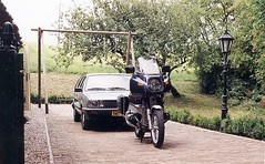 Ha! Found an analogue picture with the BMW RS bike and Volkswagen Passat variant C, that I used to drive back in the eighties. (Eduard van Bergen) Tags: auto blue holland green dutch bike vw silver volkswagen grey photo image picture engine german r bmw boxer b2 motor eighties passat rs wolfsburg motorrad wagen 32b pkw motorfiets