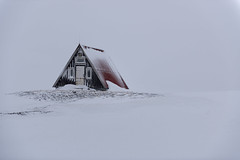 Sanctuary (Peter Talbot) Tags: mountain snow ice iceland hut peninsula sanctuary snaefellsness
