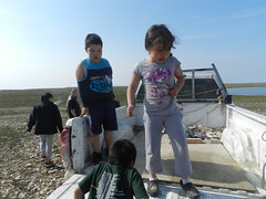 Going swimming at Long Point August 2015 01 (cambridgebayweather) Tags: swimming nunavut cambridgebay arcticocean