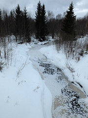 Black Beck (keibr) Tags: winter snow ice forest crystals iceflowers blackbeck keibr nearblip blesjn