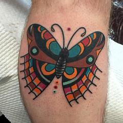 2016 (josh leahy) Tags: tattoo ink canon butterfly nikon bright eagle traditional leg brisbane clean josh southside tradition logan oldskool bold goldcoast leahy newskool tattooer joshleahy rainbowseawolf lanternandsparrow