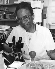 Sophie Lutterlough at a Microscope, 1983 (Smithsonian Institution) Tags: wikipedia africanamerican smithsonianinstitution 2016 smithsonianinstitutionarchives 201603