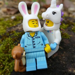 Im good at sleeping. I can do it with my eyes closed. (http://MiniPlayHouse.com) #lego #minifigures #bunnysuitguy #sleepyhead #bunny #toy #photography #unicorn #unicorngirl (dadawudawu) Tags: bunny toy photography lego sleepyhead unicorn minifigures unicorngirl bunnysuitguy