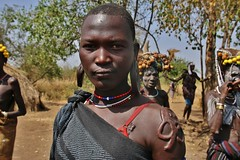 Scarifications of Mursis (Omo Valley, Ethiopia) (pdellouve) Tags: africa tribes omovalley ethiopia afrique omo ethiopie scarifications mursis mirsi