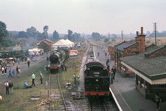 Quorn Class 5 5231 and D11 506 steam fair day Sept 76 C3015 (DavidWF2009) Tags: 506 quorn greatcentralrailway 5231 lmsr d11 class5 quornandwoodhousestation