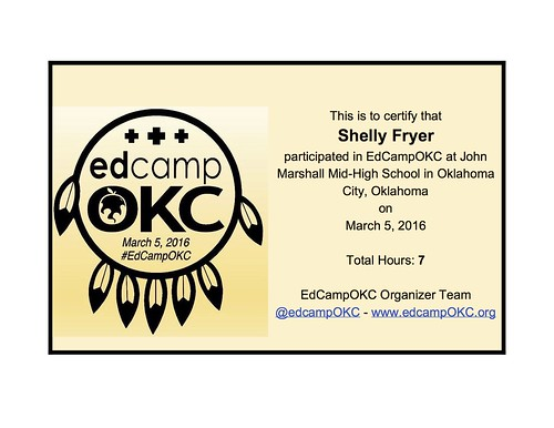 Example EdCampOKC Certificate by Wesley Fryer, on Flickr