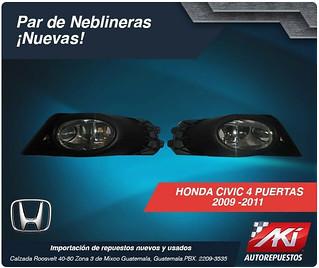 neblineras civic 4 puertas 2009-2011