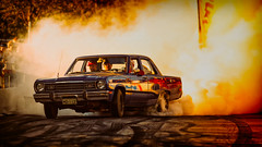 Plymouth Valiant a Power Big Meet 2015 (Subdive) Tags: car sweden smoke vehicle sverige burnout vsters powermeet hlla powerbigmeet2015