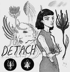 eyes closed (oct 2015) (art-creature) Tags: moleskine illustration pen ink drawing sketchbook brushpen fineliner