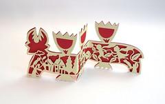 DSCF5039 (Elsita (Elsa Mora)) Tags: christmas paperart card redandwhite papercraft holidaycard papercutout elsita papercutting elsamora