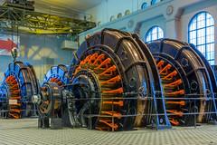 The Generators (kaifr) Tags: blue red plant norway museum industrial no indoors generators telemark hydroelectric vemork
