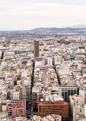 City (Poet Mir) Tags: street city travel sky urban espaa mountain entramado skyscraper plane buildings landscape grid photography spain edificios europe map capital ciudad paisaje aerial alicante cielo vista urbano plano vistas mapa viajar cuadricula aerea rascacielo