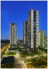 Sky Terrace @ Dawson Singapore (180416) (n._y_c) Tags: city urban architecture singapore cityscape outdoor olympus heartland bluehour dawson hdb omd urbanscape oly publichousing omdseries omdem5mk2 mz714f28pro