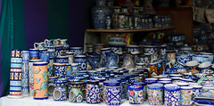 Still got the blues? (natashaj13) Tags: blue pakistan heritage painting 50mm colours handmade patterns culture skills clay pottery punjab handicrafts artisans jars multan artsandcrafts southasia bluepottery cityofsaints subcontinen