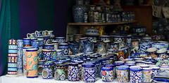 Still got the blues? (natashaj13) Tags: blue pakistan heritage painting 50mm colours handmade patterns culture skills clay pottery punjab handicrafts artisans jars multan artsandcrafts southasia bluepottery cityofsaints subcontinen