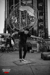 Stepping in Columbus Circle NYC (Street Photo NYC) Tags: life street nyc people blackandwhite bw ny newyork streets monochrome blackwhite dance nikon artist stepping streetperformer streetphoto columbuscircle performer busking d600 streetphotonyc