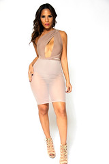 SEXY TAUPE CROSSED SHOULDER BODYSUIT WITH SHEER MIDI SKIRT (mysexystyles111) Tags: sexy fashion bottom dresses sexygirls tops pinkdress blackdress minidress girlsfashion sexyblackdress sexydresses pinkminidress ladiestops mididress westerndresses