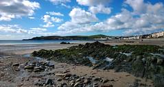 Douglas Beach (Chris Kilpatrick (on holiday)) Tags: chris sea sun nature water clouds rocks outdoor bluesky douglas isleofman irishsea nokialumia1020