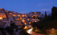 Ragusa by night (Nicolas Chaperon) Tags: italy night lumix nightshot panasonic sicily ragusa nightfall ibla gx7