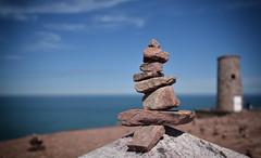 finding the way (alouest225) Tags: sea mer seascape france stone landscape nikon dof pierre bretagne cte d750 paysage cairn ctesdarmor capfrhel inexplore
