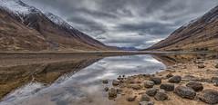 Loch Etive (djmeister) Tags: winter snow reflections scotland highlands moody glenetive lochetive