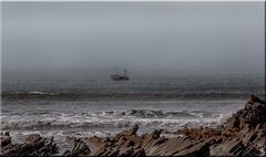 Fishing Boat (Boba Fett3) Tags: sea seascape water outside outdoors boat seaside fishing rocks waves devon westcountry northdevon welcombe