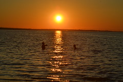 Sunset Fishing (Robert Scifo) Tags: sunset summer gold newjersey fishing nikon south nj shore southjersey