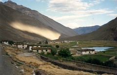 Sun & shadow together: A view of Tabo village of Spiti in Himachal.  @hptdc #incredibleindia #India #Himachal #Spiti #Lahaul #countryside #rural #nature #photooftheday #picoftheday #adventure #Himalaya #TransHimalaya #village #Tabo #archives #Mountains (Anil.Yadav1) Tags: india mountains nature rural countryside village adventure archives himalaya tabo himachal spiti photooftheday picoftheday incredibleindia lahaul transhimalaya