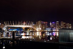 BC PLACE 1 (Scendence) Tags: camera city longexposure canada hot reflection love water girl beautiful skyline architecture night vancouver creek canon buildings lens landscape fun photography lights boat photo dock aperture nikon long exposure bc view angle bright harbour crane britishcolumbia secret awesome tripod review wide cities sigma ubc columbia victoria iso most teen refraction falsecreek physics late astronomy british kit van 1855 flashing scape tamron bower false manfrotto followers algebra gain vancity t3i nght f4f samyang rokinon digitalrev